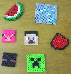 Minecraft perler characters / blocks by CuteHandyStuff on Etsy, $3.00