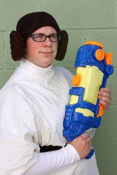 Last minute homemade Princess Leia costume