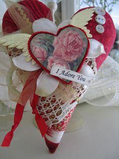Valentine's Day Decor  Valentine Pillow  Red Heart by AvantCarde, $27.00