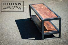 Industrial Urban Bench by urbanwoodandsteel on Etsy