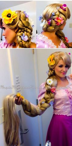 Rapunzel 2 Tone, Modeled by: Majic Moments, Porterville,CA, Wig by: Final Touch Wigs