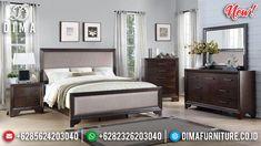 Elegant Dan Simple Kamar Set Minimalis Jati Natural Brown Class MMJ-0897
