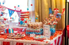 Dr Seuss' Cat in the Hat Birthday Party Ideas | Photo 1 of 50 | Catch My Party