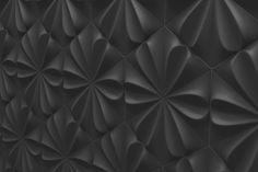 fiore graphite 3d wall tile retro