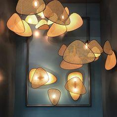 Suspension en Screen Cannage – mooielight Yellow Bamboo, Design Your Dream House, Interior Decorating, Interior Design, Lighting Store, Terrazzo, Modern Architecture, Room Decor, Inspiration