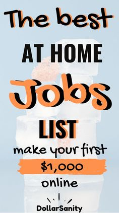 Looking for a home job? The best list of work from home jobs to make extra money. Make money online working in your pajamas. Make Money Fast, Make Money From Home, Make Money Online, Jobs For Women, Extra Money, Extra Cash, Find A Job, Work From Home Jobs, Online Work