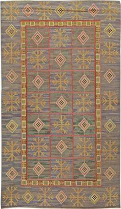 Scandinavian Rugs, Swedish Rugs: Swedish rug, Scandinavian Rug by Marta Maas Fjetterstrom (vintage) for Scandinavian interior decor