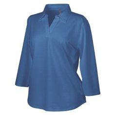 Women's 3/4 - sleeve Stretch Polo from Jockey, DEEP RED, 2XL Jockey. $34.99