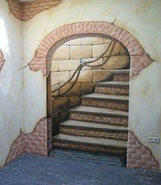 Pavement Art, Mural Wall Art, Architecture Drawings, Interior Walls, Restaurant Design, Painted Rocks, Cool Art, Street Art, Decoration