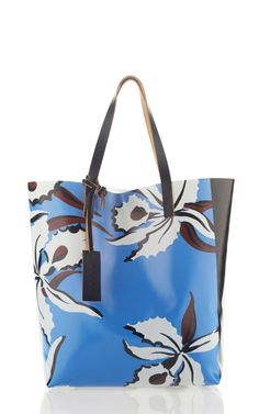 Moonflower Stripe Pvc Shopping Bag by Marni for Preorder on Moda Operandi