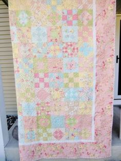 Shabby Chic Handmade King Size Quilt