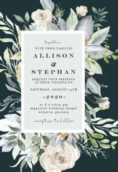 Eucalyptus Charm - Wedding Invitation #invitations #printable #diy #template #wedding