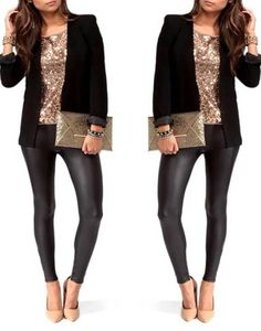 Christmas Party Outfits Casual night out outfit ideas awesome Sequin outfit ideas for holiday Xmas Party Outfits, Dinner Outfits, Holiday Party Outfit Casual, Cocktail Party Outfit, Brunch Outfit, Mode Outfits, Casual Outfits, Fashion Outfits, Casual Clothes