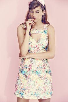 T-Bar organza Lace dress by Yumi London