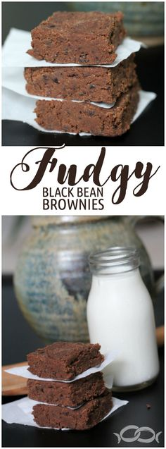 Can't believe these have black beans in them! They taste so good. No bake fudgy black bean brownies via /newlywedsurvive/ Best Dessert Recipes, Easy Desserts, Sweet Recipes, Delicious Desserts, Dark Chocolate Chips, Chocolate Flavors, Chocolate Heaven, No Bake Protein Bars, Black Bean Brownies