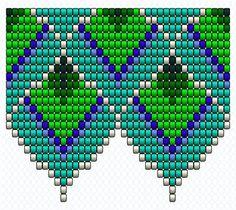 Схемы колье -павлиньи перья...   biser.info - всё о бисере и бисерном творчестве