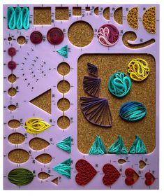 Quilling Shape Board has a large convenient work area for designing. The numbers indicated on the board are the recommended paper length in cm. Board measures 1 inch x 8 inch Quilling Flowers Tutorial, Paper Quilling Flowers, Paper Quilling Cards, Quilling Work, Paper Quilling Patterns, Neli Quilling, Paper Quilling Earrings, Origami And Quilling, Paper Quilling For Beginners