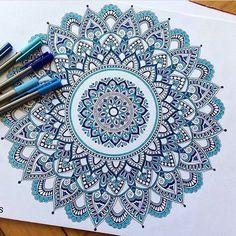 "604 Likes, 7 Comments - @best.mandalas on Instagram: ""Mandala by @_mmandalas Like it!  . . .…"""