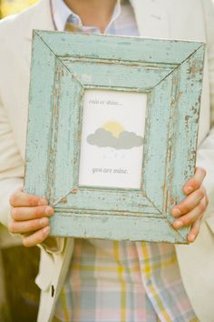 #rainy day wedding # rustic frame