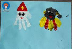 Sinterklaas en Zwarte Piet handjes verven 4