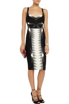 Crystal-embellished bandage dress | Hervé Léger | THE OUTNET