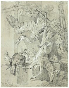 oudry, jean-baptiste return from ||| hunting ||| sotheby's l13040lot6yqppen
