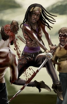Michonne-by AJ Moore by GudFit on DeviantArt