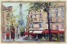 Springtime in Paris Framed Painting Print