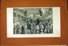 Antique Print of Roberts Jubilee Fancy Dress Ball Simla Print 1887