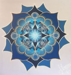 BLUE MANDALA love this one as it's clearly shaped like a lotus. Better than a circle I think for the logo