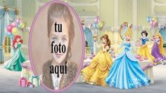 Niños De Cumpleaños Con Princesa De Disney Marcos para fotos Happy Birthday Frame, Princess Peach, Disney Princess, Cinderella, Disney Characters, Children, Design Interior, Colonial, Facebook