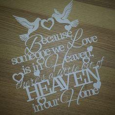 Someone We Love Is In Heaven Papercut