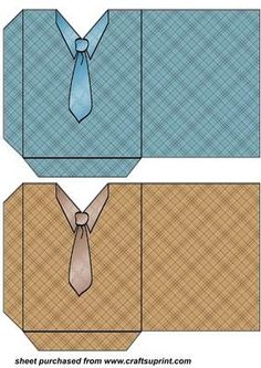 Gift Box Blue and brown shirt and tie pockets on Craftsuprint designed by Stephen Poore. Gift Cards Money, Diy Cards, Wedding Scrapbook, Scrapbook Cards, Scrapbooking, Card Making Templates, Gift Box Templates, Cadeau Grand Parents, Father's Day Activities