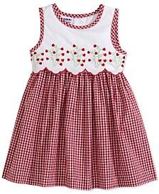 Blueberi Boulevard Baby Girls Red and White Check Sleeveless Dress - Baby Girl Dress - Ideas of Baby Girl Dress Frocks For Girls, Kids Frocks, Little Dresses, Little Girl Dresses, Girls Dresses, Pageant Dresses, Baby Dress Design, Baby Girl Dress Patterns, Toddler Dress