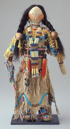 Female Doll, Artist Unknown (Lakota (Sioux)) http://artsconnected.org/collection/98801/native-american-art?print=true
