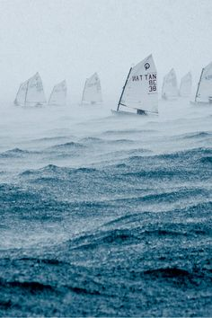 Optimist Dinghy Sailing through a storm Yacht Design, Dinghy, Sail Away, All Nature, Set Sail, Am Meer, Sea And Ocean, Small Boats, Boat Plans