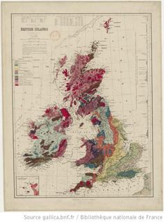 Geological Map of the british islands / by W. Hughes, 1/2.500.000, revised 1888 http://www.europeana.eu/portal/record/9200103/DCF1264D1472CC6006035DB1F460077D72364EE0.html #Oldmaps #HistoryPics