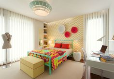 Comb I suspension lamp at this girl's room at a residential house. Mambo Unlimited Ideas