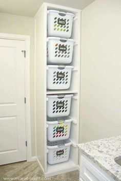 Perfect Design Laundry Shelves And Storage Laundry Sorter Genius Laundry Storage Ideas You Can DIY, laundry closet storage, laundry room shelves and storage, laundry shelf storage, laundry shelf storage rack. Added on September 2018 at Shelves Design Laundry Basket Organization, Laundry Sorter, Laundry Room Organization, Laundry Room Design, Laundry Baskets, Organization Ideas, Laundry Basket Holder, Small Laundry Rooms, Laundry Closet