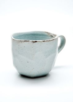 Leif Faceted Boulder Mug in Cloud, Milk, or Brick, $15