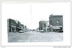 RP, Main Street, Showing Rexall Drug Store/Pharmacy, Skogmos Store, Etc., Rock Rapids, Iowa, 30-50s