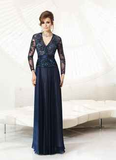 VM Collection 70922 Style Number:70922 VM Collection  Chiffon/Beaded Mesh Dress  Our Price: $758.00