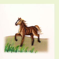 Horse BL994 6 x 6 by QuillingCard on Etsy