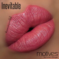 """""""Inevitable"""".  Motives® Moisture Rich Lipstick. Available at http://us.opc3.com/mabelchan/product/motives-moisture-rich-lipstick/?id=103MRL&skuName=inevitable&idType=sku"""