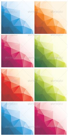 8 Abstract Triangle Backgrounds #GraphicRiver Set of 8 colorful abstract triangle backgrounds with stripes and dots, vector illustration. #VectorEPS Layered: No MinimumAdobeCSVersion: CS Tags: 3d #abstract #backdrop #background #banner #blue #business #collection #design #dots #dotted #elegant #elements #geometric #green #modern #orange #pink #polygon #red #set #striped #stripes #texture #trendy #triangle #vector #wallpaper #white
