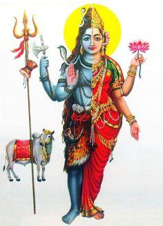 Shiva and Parvati as Ardhanarishvara (via ebay: Indian_ash)