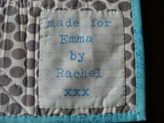Great article on how to stamp on fabric.