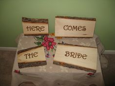 Ruffled® | See ads - Here Comes the Bride Signs - Ceremony