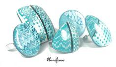 bagues bleues - rings
