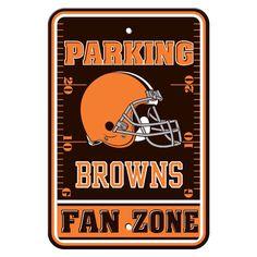 "Cleveland Browns Parking Sign - 12"" x 18"""